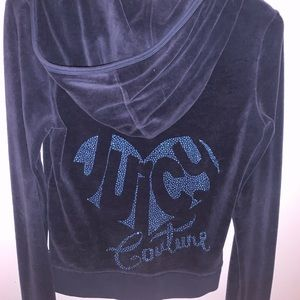 Navy Blue Juicy Couture Sip Up w Design